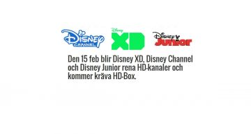 Disneykanalerna blir rena HD-kanaler