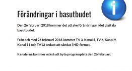 Förändringar i basutbudet fr.o.m. 26 feb.
