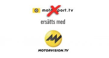 Motorsport TV ersätts med Motorvision
