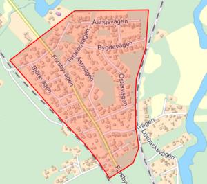 Karta över Forsby