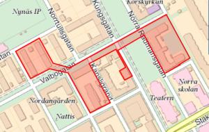 Karta över Valbogatan