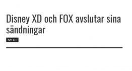 Disney XD och FOX avslutar sina sändningar