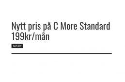 Nytt pris på C More Standard